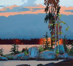 Influenced by classic Canadian painters, this BC-based artist brings his own eye to a striking landscape. Contemporary Landscape, Abstract Landscape, Landscape Paintings, Abstract Art, Landscapes, Oil Paintings, Canadian Painters, Canadian Artists, Puzzle Drawing