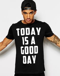 Image 1 of ASOS T-Shirt With Good Day Print