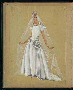 Robe de style de mariée, 1923 © Patrimoine Lanvin. #Lanvin125