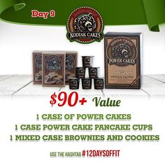 DAY 9 of 12 Days Of Giveaways is your chance to win Kodiak Cakes Power Cakes Pancake Cups Brownies and Cookies Mixes worth over $90! Go to @kodiakcakes to enter! Be sure to: 1.  Follow @muscleegg @sizzlefishfit @fitchick428 @5280meat @ensorings @nutsnmore @performancepin @royaltynutrition @taintedindustriesclothing @lennyandlarrys @kodiakcakes @melissasproduce @omgheebutter @myoatmeal  2.  Comment below tagging 3 friends and using #12DaysOfFit to spread the word!  3.  Dont forget that this…