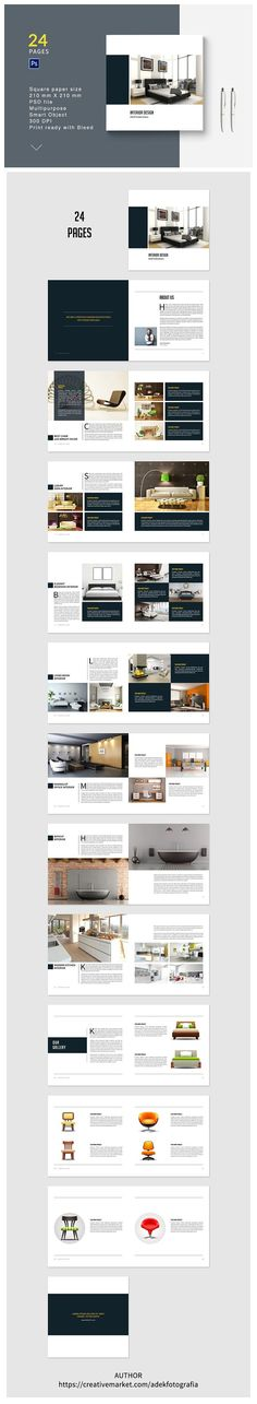 PSD - Square Interior Brochure by adekfotografia on @creativemarket