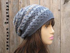 CROCHET PATTERN  Slouchy  Hat Crochet Pattern PDF  by EvasStudio. , via Etsy.