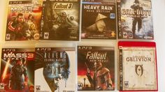 Lot Of 8 PS 3 Games, Fallout 3 GOTY, M Effect 2&3 COD WAW, Oblivion, Heavy Rain  EIGHT FOR THE PRICE OF TWO !!!