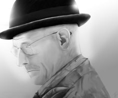 Black and Mr. White  Okay, fine! I confess it! I'm BananAddicted to Breaking Bad. Don't judge me, it's not my fault that it contains everythign a good series should have. Emotions, complots, tenseness, the guy who played Malcolm's dad. Just everything! Thats why I did a drawing which shows Walter White, the leading character. Even his brother in law, who is a DEA, isn't able to hold a banana to him. Walter is the real BadBananAss in the series, I mean look at his hat!
