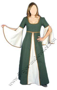 TRAJES MEDIEVALES DAMA : Traje medieval dama Berta de Aragón