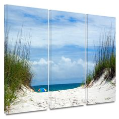 Found it at Wayfair - 'Ocean Path' 3 Piece Photographic Print on Gallery-Wrapped Canvas Set