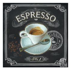 Coffee House Espresso Giclee Print by Chad Barrett at Art.com