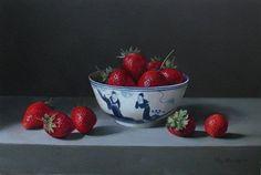Roy Barley | Strawberries in Chinese Bowl