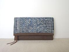 Fold Over Clutch Bag  Vintage Hmong Batik and von frompastopresent, $33.00