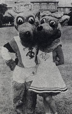 Throwback Thursday! Mr. & Mrs. Wuf on campus in 1989