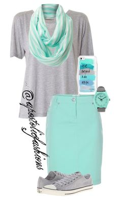 """Apostolic Fashions #1200"" by apostolicfashions on Polyvore featuring Acne Studios, Vero Moda, Nixon and Converse"