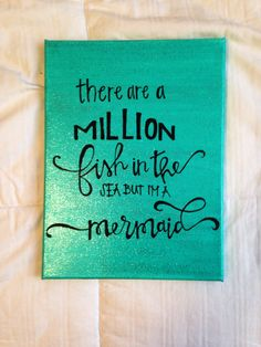 Canvas quote there are a million fish in the sea by kismetcanvas