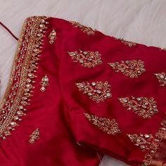 Cutwork Blouse Designs, Wedding Saree Blouse Designs, Simple Blouse Designs, Stylish Blouse Design, Wedding Blouses, Sari Design, Chennai, Hand Work Blouse Design, Designer Blouse Patterns