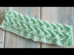 ▶ (crochet) How To Crochet the Raised Treble Diagonal Rib Stitch - Crochet Extras - YouTube