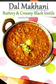 Dal makhani is a Indian dish made by simmering black lentils in a buttery, spicy & flavorful masala Lentil Recipes, Veg Recipes, Curry Recipes, Indian Food Recipes, Crockpot Recipes, Cooking Recipes, Indian Vegetarian Recipes, Indian Foods, Indian Snacks