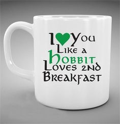 [Visit to Buy]  the lord of the rings Mug (2 sides print) I love you like a hobbit loves 2nd breakfast,LOTR mug coffee mugs Tea Cups hobbit Cup #Advertisement