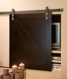 Sliding Barn Door To Cover TV | Content in a Cottage