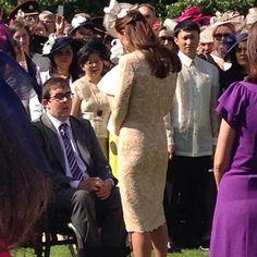 McQueen lace dress, Jane Taylor hat