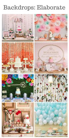Elaborate Backdrop Ideas - Julia's Cake Stand Rentals