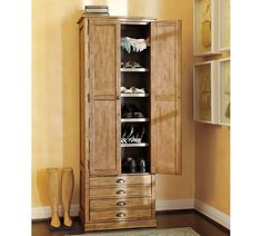 Shelby Storage Tower, Distressed Pine finish