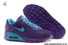 2013 Nike Air Max 90 Womens Shoes HYP PRM KPU Shoes Purple For Sale