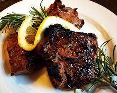 Garlic Rosemary Lamb Chops recipe by The Lemon Bowl. Lamb and rosemary are a classic combination.  This recipe is very simple but full of flavor.