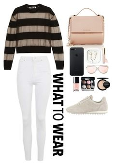 """""""Nlack what to wear"""" by thatgirlwholovesit on Polyvore featuring Topshop, McQ by Alexander McQueen, rag & bone, Givenchy, Beautycounter, Chanel and MAC Cosmetics"""