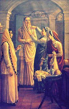 Decking the Bride by Raja Ravi Varma