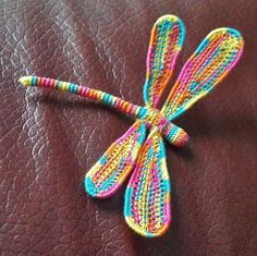 Crochet Dragonfly Free Pattern