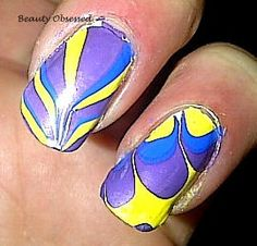 Water Marbling. check out my video tutorial:  http://www.beautyobsessed2.blogspot.com/