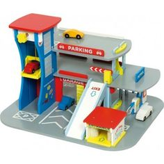 Bring educational fun into your child's playroom with this charming Bigjigs City Auto Garage playset.