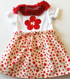 Tutorial for making a baby dress from a onesie