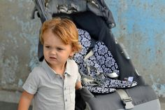 Cover model Jack! Protect your buggy from all the messes that toddlers make with a Lily Pad.
