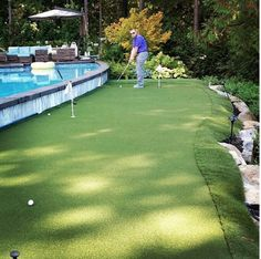 The beauty of a SYNLawn putting greens is that it can be designed for any size or shaped area.