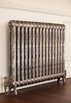 reclaimed radiators, the best kind of heat, Victorian Radiators, Victorian Style Homes, Cast Iron Radiators, Café Bar, Arts And Crafts House, Chula, Interior Decorating, Interior Design, Herd