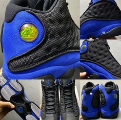 Nike Basketball Shoes, Running Shoes Nike, Retro Jordans 11, Nike Air Jordans, Jordan Retro 13 Black, Jordan 13, Royal Fashion, Apparel Design, Amigurumi