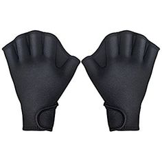 Tagvo Aquatic Gloves for Helping Upper Body Resistance, Webbed Swim Gloves with Strap, Well Stitching, No Fading, Sizes for Men Women Adult Children Aquatic Fitness Water Resistance Training