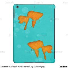 #Goldfish #silhouette #turquoise water #iPad Air #case