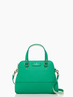 Kate Spade, Grove Court Maise shoulder bag in Bright Beryl/Faded Mint, $350
