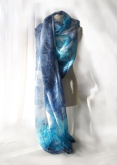 Giant scarf  Big scarf  silk pareo hand painted  by MinkuLUL, $95.00