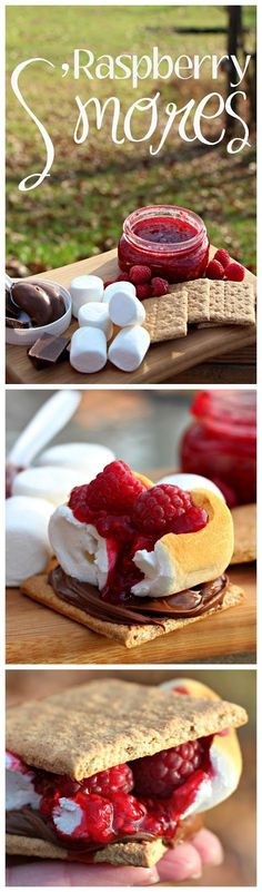 Once you've had one of these Raspberry S'mores, you'll never go back to regular S'mores again!