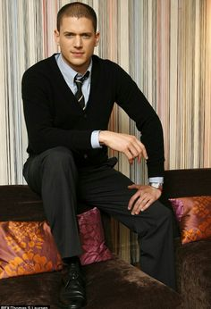 Wentworth Miller looking very GQ