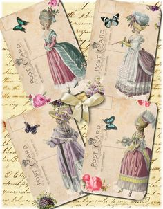 Marie Antoinette 22 - 3 X 5 - Printable Digital Collage Sheet