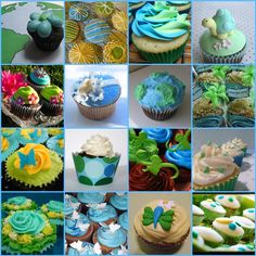 A collection of Earth Day Cupcakes