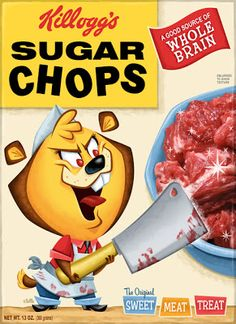 A real cereal killer Best Horror Movies, Horror Films, Horror Art, Horror Cartoon, Funny Horror, Cereal Names, Cereal Killer, Garbage Pail Kids, Very Scary