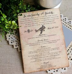 Wedding Menu Card Vintage Aviation World Map by SunshineandRavioli
