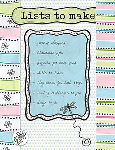Lists to make by Rikki, via Flickr