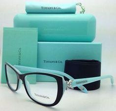 2358500882f New authentic  tiffany   co. tf2044b 8055 top black blue eyeglass frame