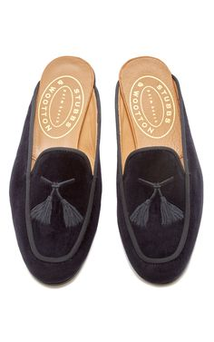 Stubbs & Wootton Metallic Embroidered Mules sale excellent aQAiFNT