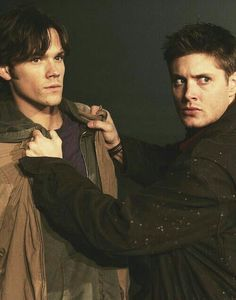 """Quick, Sammy... the fangirls found us... put this on and run... no, Sammy, just go! I'll find you... in another life..."""